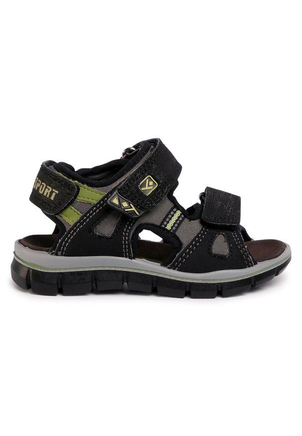 Czarne sandały Sergio Bardi Young klasyczne, na lato