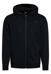 4f - 4F Bluza H4L21-BLM016 Czarny Regular Fit. Kolor: czarny
