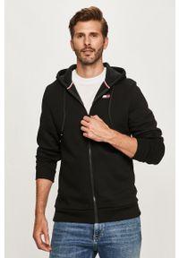 Czarna bluza rozpinana Tommy Sport na co dzień, z kapturem, sportowa