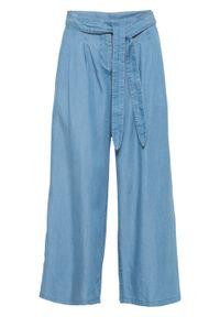 "Spodnie culotte, TENCEL™ Lyocell bonprix niebieski ""bleached"". Kolor: niebieski. Materiał: lyocell"