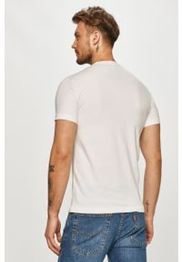 EA7 Emporio Armani - T-shirt. Kolor: biały. Wzór: nadruk