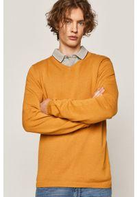 medicine - Medicine - Sweter Basic. Okazja: na co dzień. Kolor: żółty. Długość rękawa: długi rękaw. Długość: długie. Styl: casual