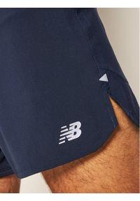 Niebieskie spodenki sportowe New Balance do biegania #4
