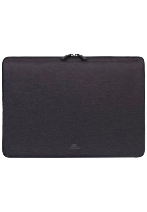 Czarne etui na laptopa RIVACASE młodzieżowe, w kolorowe wzory