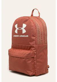 Pomarańczowy plecak Under Armour z nadrukiem