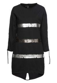 Czarna sukienka bonprix z nadrukiem