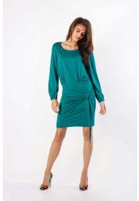 Zielona sukienka wizytowa Nommo