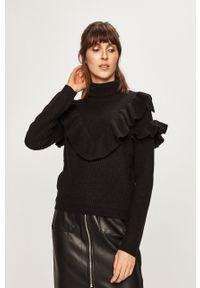 Czarny sweter Glamorous z golfem, na co dzień, casualowy