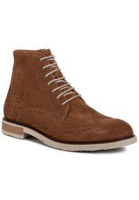 Brązowe buty zimowe Gino Rossi na co dzień, klasyczne
