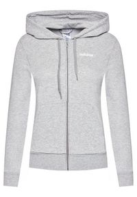 Adidas - adidas Bluza W Essentials PLN Fz Hd DU0664 Szary Regular Fit. Kolor: szary