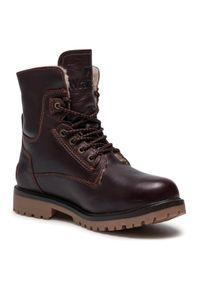 Brązowe buty zimowe Wrangler klasyczne, z cholewką