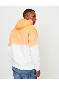 Kenzo - KENZO - Pomarańczowa gradientowa bluza z tygrysem. Typ kołnierza: kaptur. Kolor: biały. Materiał: bawełna. Wzór: gradientowy. Sezon: lato