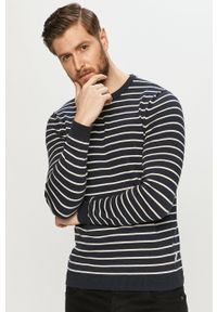Only & Sons - Sweter. Okazja: na co dzień. Kolor: niebieski. Materiał: bawełna. Długość rękawa: długi rękaw. Długość: długie. Styl: casual