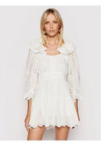 For Love & Lemons Sukienka letnia Serena CD2334 Biały Regular Fit. Kolor: biały. Sezon: lato