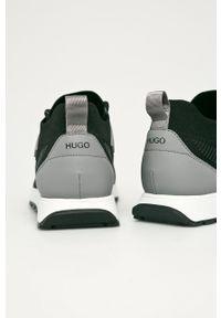 Czarne sneakersy Hugo na sznurówki, z okrągłym noskiem, z cholewką #5