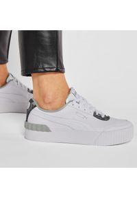 Białe buty sportowe Puma z cholewką, na płaskiej podeszwie