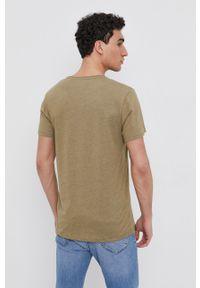Pepe Jeans - T-shirt Gavin. Kolor: zielony. Materiał: dzianina. Wzór: gładki