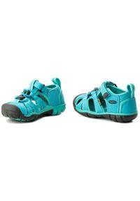 Niebieskie sandały keen na lato