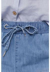 Niebieskie jeansy medicine z podwyższonym stanem, gładkie