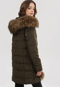 Brązowa kurtka zimowa Born2be