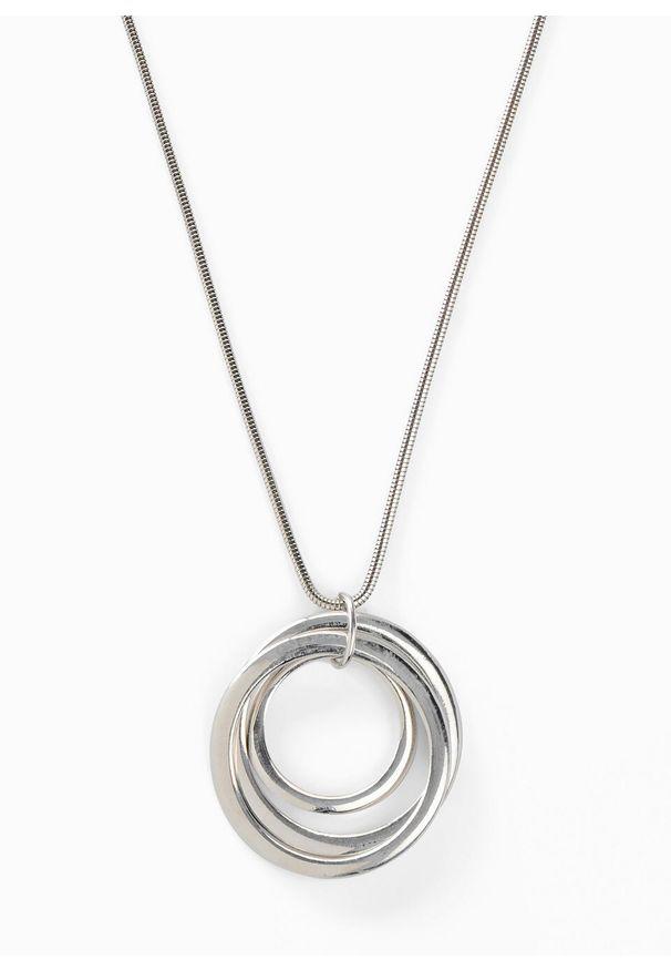 Długi łańcuszek bonprix srebrny kolor