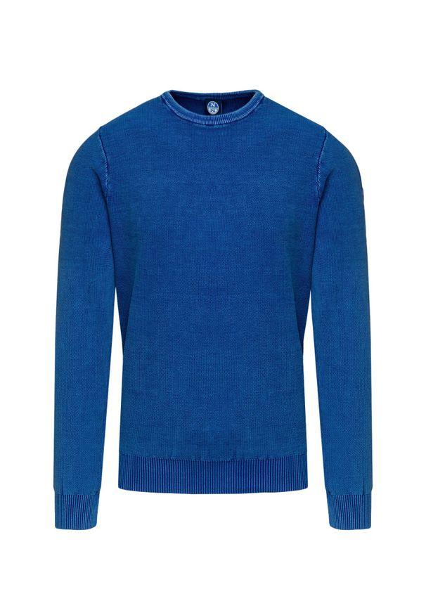 Niebieski sweter North Sails w kolorowe wzory