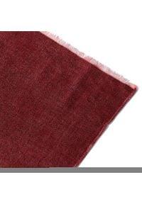 Pierre Cardin - Szal PIERRE CARDIN - 99173/000/2908 Oxblood 5200. Kolor: czerwony. Materiał: wełna, bawełna, materiał, poliamid