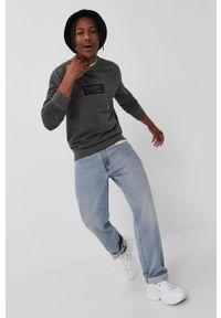 Czarna bluza nierozpinana Tommy Jeans casualowa, na co dzień, z aplikacjami