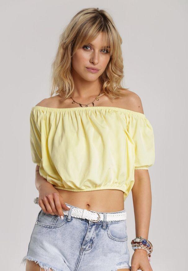 Renee - Żółta Bluzka Amalisis. Kolor: żółty. Długość: krótkie