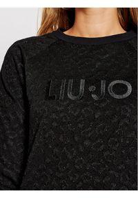 Czarna sukienka Liu Jo Sport na co dzień, prosta, sportowa
