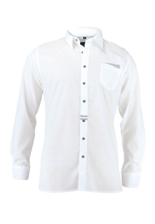 Elegancka koszula Chiao długa, z długim rękawem, z aplikacjami, do pracy