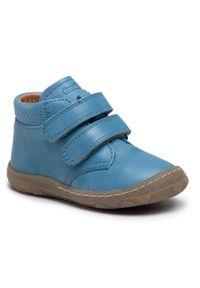 Froddo - Trzewiki FRODDO - G2130227-3 S Jeans. Kolor: niebieski. Materiał: skóra. Sezon: zima, jesień