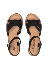 Refresh - Sandały REFRESH - 72750 Black. Kolor: czarny. Materiał: materiał #7
