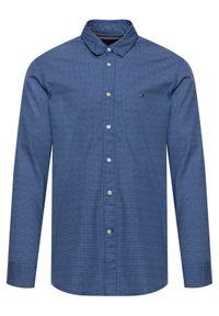 Niebieska koszula casual TOMMY HILFIGER z nadrukiem