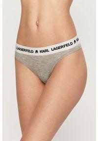 Szare majtki Karl Lagerfeld z nadrukiem