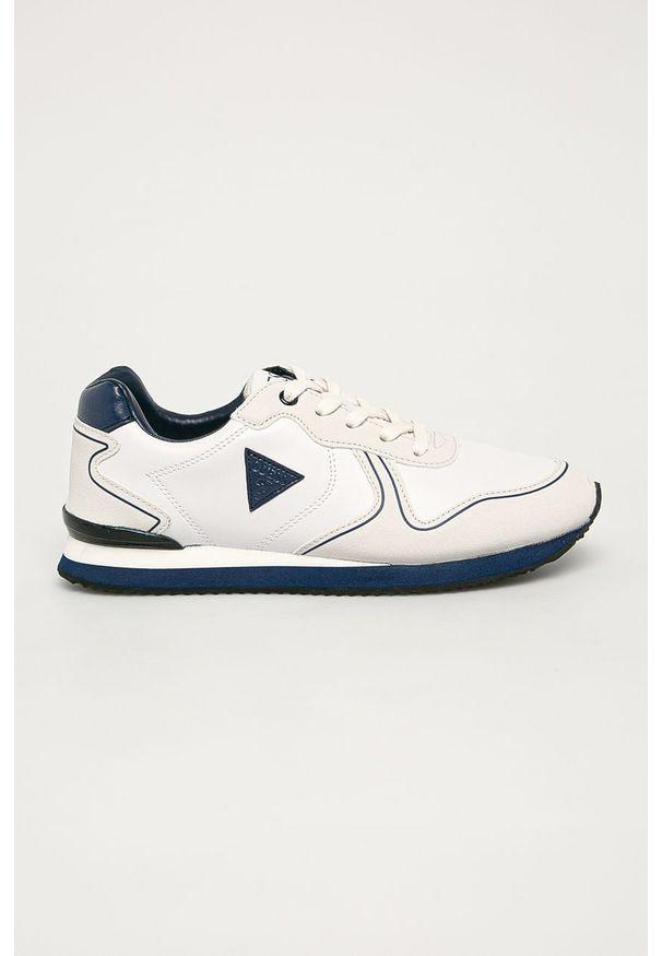 Szare buty sportowe Guess Jeans z okrągłym noskiem, na sznurówki