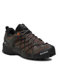 Brązowe buty trekkingowe Salewa trekkingowe, Gore-Tex