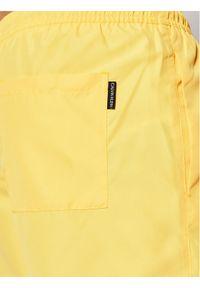 Calvin Klein Swimwear Szorty kąpielowe Drawstring KM0KM00590 Żółty Regular Fit. Kolor: żółty #4