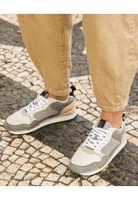 HOFF - Sneakersy Baqueria. Zapięcie: sznurówki. Kolor: szary. Wzór: nadruk, aplikacja