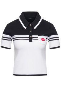 Biała koszulka polo Guess polo