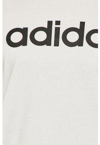 Biały t-shirt adidas Performance na co dzień, casualowy, z nadrukiem