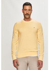 TOMMY HILFIGER - Tommy Hilfiger - Sweter. Okazja: na co dzień. Kolor: żółty. Materiał: dzianina. Długość rękawa: długi rękaw. Długość: długie. Styl: casual