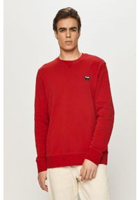 Wrangler - Bluza bawełniana. Okazja: na co dzień. Kolor: czerwony. Materiał: bawełna. Styl: casual