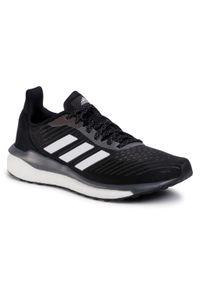 Czarne buty do biegania Adidas z cholewką