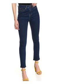 TOP SECRET - Spodnie jeansowe. Okazja: do pracy, na co dzień. Kolor: niebieski. Materiał: jeans. Sezon: jesień. Styl: klasyczny, casual