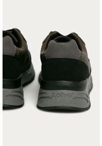 Szare sneakersy s.Oliver z okrągłym noskiem, z cholewką