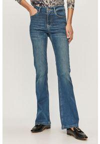 Niebieskie jeansy bootcut Mos Mosh z podwyższonym stanem