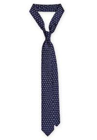 Niebieski krawat Lancerto klasyczny, w geometryczne wzory, na co dzień