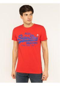Czerwony t-shirt Superdry