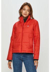 Czerwona kurtka adidas Originals bez kaptura, na co dzień, casualowa